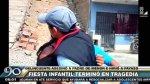 Crimen en fiesta infantil: un muerto y un menor herido - Noticias de carabayllo