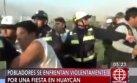 Huaycán: batalla campal entre serenos y vecinos por aniversario