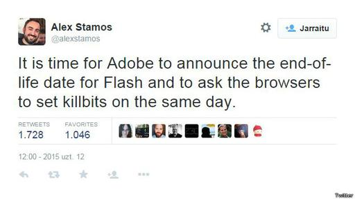 El jefe de seguridad de Facebook, Alex Stamos, dijo esto el día anterior de la decisión de Firefox.