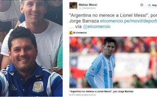 Hermano de Messi hizo retuit a nota de El Comercio sobre Leo