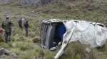 Áncash: un fallecido tras vuelco de combi que llevaba escolares - Noticias de accidentes en carreteras