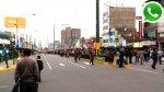 WhatsApp: caos en Av. Angamos por desfile escolar en Surquillo - Noticias de actos delictivos