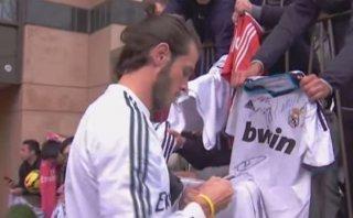 Bale y el Happy Birthday que le cantaron hinchas de Real Madrid