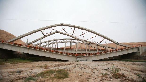 Puente Topará: sugieren colapso por el diseño o la construcción