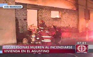 El Agustino: incendio en casa dejó dos muertos y dos heridos