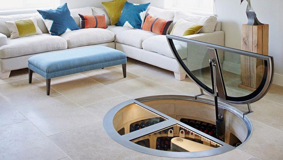 Estas bodegas de vino en espiral son un detalle moderno en casa