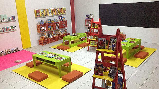 Las bibliotecas buscan un ambiente cómodo para que los niños se animen a leer.(Foto: Un Millón de Niños Lectores)