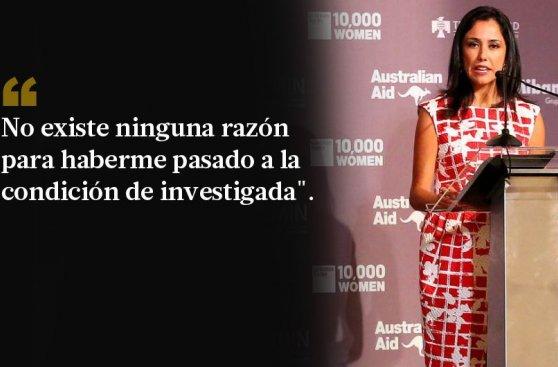 Nadine Heredia se defiende: sus 10 frases más destacadas