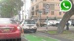 WhatsApp: señor conductor, las ciclovías no son para los carros - Noticias de nuevo sol
