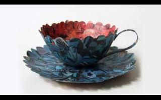 Diseño especial: mira estas tazas y platos creados con papel