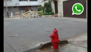 WhatsApp: hidrante en mal estado desperdicia agua hace días