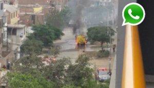 WhatsApp: camión con balones de gas explotó en Comas