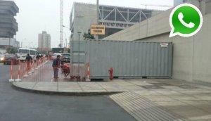 WhatsApp: constructora invade vereda en San Borja