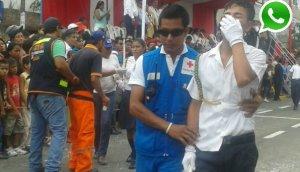 WhatsApp: niños se desmayan en desfile por Fiestas Patrias
