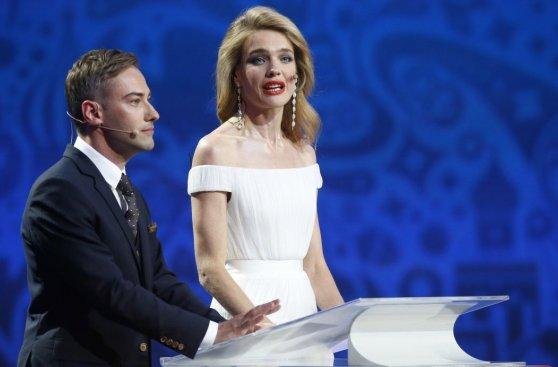 Vodianova, la modelo que cautivó en la ceremonia de Rusia 2018