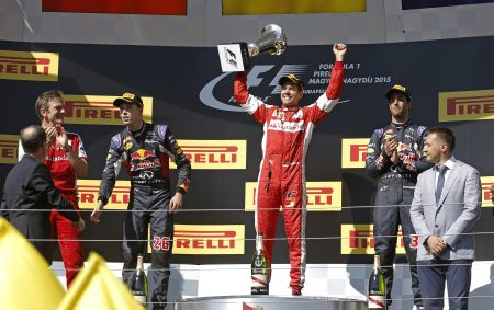 Vettel ganó su segunda carrera en lo que va del año. (Fotos: DPPI)