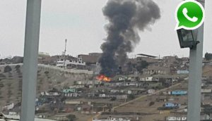 WhatsApp: incendio en AH de Villa El Salvador