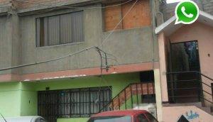WhatsApp: cables de telefonía cuelgan en calle de Comas