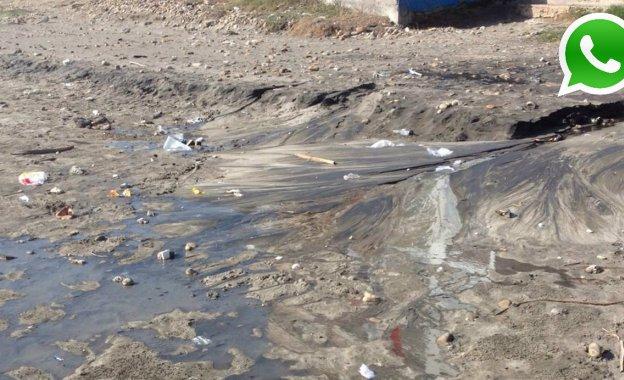 WhatsApp: denuncian contaminación en playa de Pimentel (FOTOS)