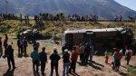 Seis muertos y quince heridos deja accidente en Arequipa - Noticias de accidente de bus