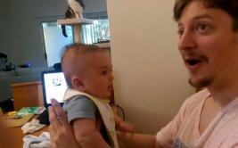 """El tierno bebe de 3 meses que te dice """"I love you"""""""