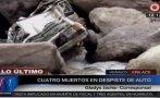 Huánuco: colectivo cayó a un abismo y cuatro pasajeros murieron