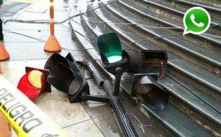 WhatsApp: semáforo cayó en la Plaza de Armas antes del Te Deum