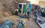 Cusco: 11 personas mueren tras caída de camión a una laguna