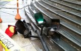 Semáforo derrumbado en Plaza de Armas será repuesto en 10 días