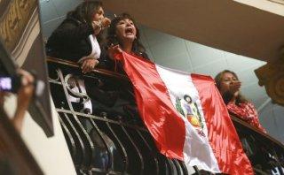 Ollanta Humala: tribuna oficialista lo acompañó en el Congreso