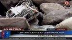 Huánuco: colectivo cayó a un abismo y cuatro pasajeros murieron - Noticias de accidentes en carreteras