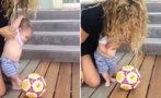 Hijo de Shakira y Piqué ya patea el balón a los 6 meses [VIDEO]