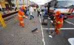 Lima limpió tramo de Av. Brasil tras Gran Parada Militar