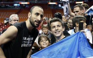 Manu Ginóbili, el último defensor de Lionel Messi