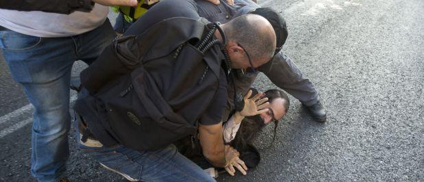 El sujeto fue sometido por la policía israelí después del hecho