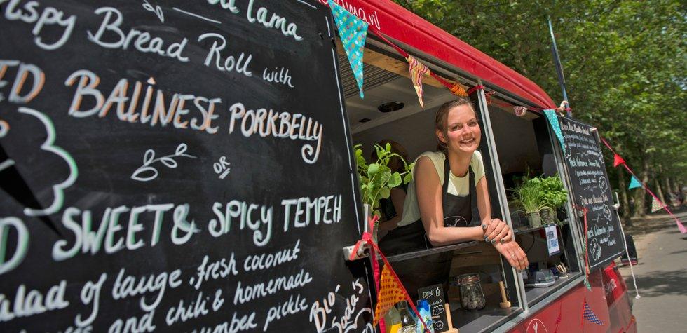 Disfruta de comida sana en las calles de Ámsterdam