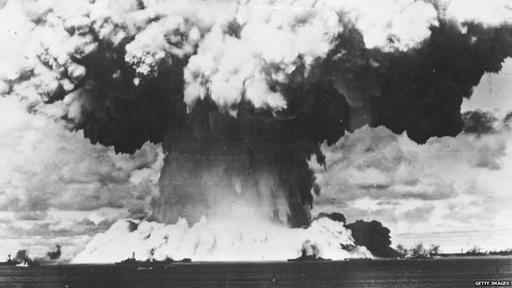 Las islas del atolón Bikini, donde se llevaron a cabo 23 pruebas nucleares, aún no pueden ser habitadas.