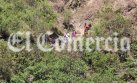 Río Blanco: cadáveres estaban separados unos 500 metros