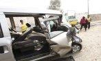 Choque de miniván contra poste dejó un muerto y cuatro heridos