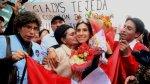 Gladys Tejeda regresó al Perú y tuvo gran recibimiento - Noticias de juegos panamericanos