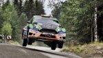 Fuchs empezó el Rally de Finlandia con problemas con la lluvia - Noticias de accidentes
