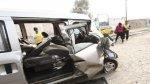 Choque de miniván contra poste dejó un muerto y cuatro heridos - Noticias de huaylas