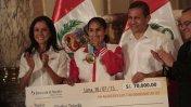 Así premiaron a Gladys Tejeda por oro en los Panamericanos