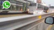 WhatsApp: ¿Qué hace este auto en la vía del Metropolitano?
