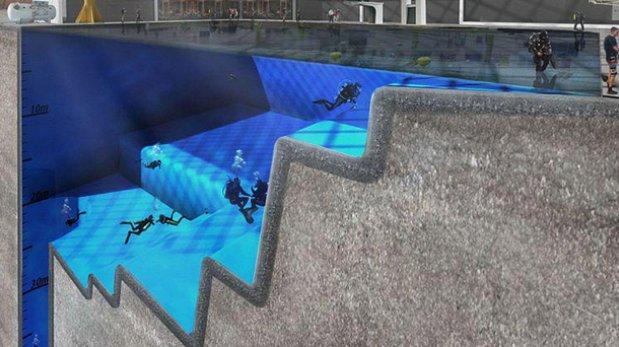 C mo ser la futura piscina m s profunda del mundo for Piscina mas profunda del mundo