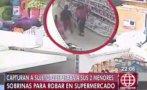 Ex reo utilizaba a dos menores para robar en supermercados