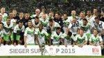 Wolfsburgo: Carlos Ascues festejó título de Supercopa alemana - Noticias de xabi alonso