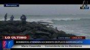 Costa Verde: vuelco de bote en playa Barranquito deja 4 heridos
