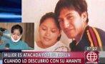VES: mujer sufrió cortes por agresión de conviviente y amante