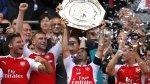 Arsenal campeón de la Community Shield: así fueron los festejos - Noticias de arsenal kieran gibbs